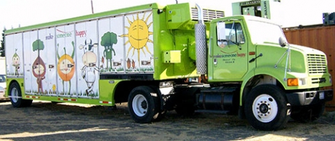 Produce on the Go truck making delivery